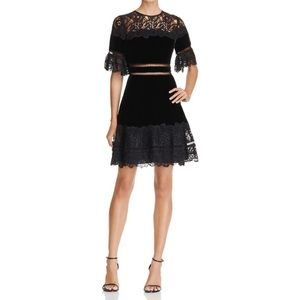 Rebecca Taylor Velvet and Lace Dress